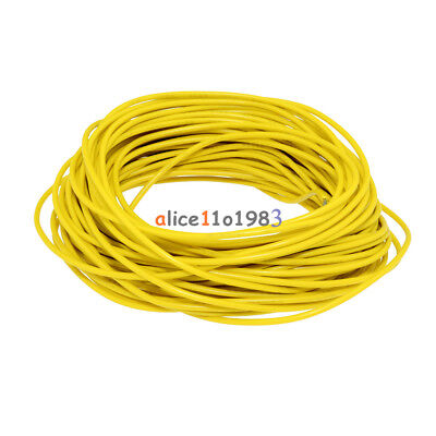 Yellow 10M UL-1007 24AWG Hook-up Wire 80°C / 300V Cord DIY Electrical