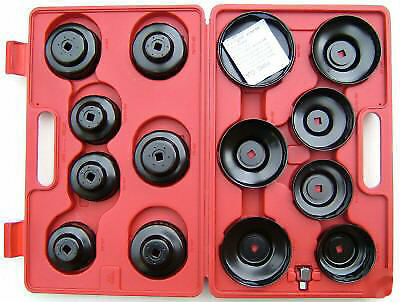 Bergen 15pc OIL FILTER WRENCH SET Cup Type Socket B3026
