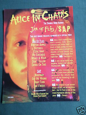 Alice In Chains - Magazine Clipping / Cutting- 1 Page Advert