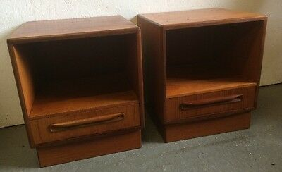 Vintage Retro G Plan Fresco Teak Bedside Cabinets / Tables (pair of) NOW REDUCED