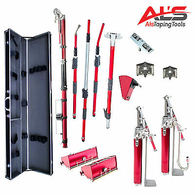Level5 Pro Complete Extendable Full Set of Automatic Drywall Tools - FREE Case!