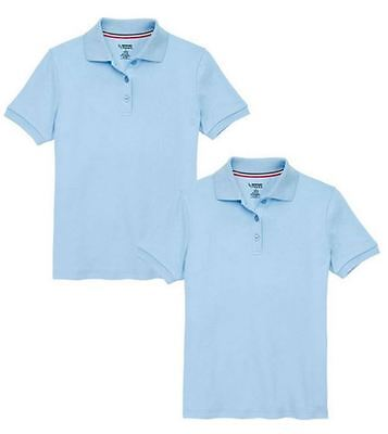 NEW French Toast Official Schoolwear Boys Polo Shirt 2 Pack - WHT/NVY/RED/LTBLU