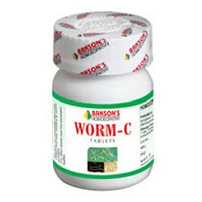 Worm-C Aid 75 Tablets Baksons Homeopathy Products For Freedom From Worms