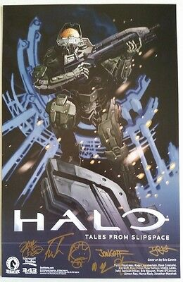 SDCC Comic 2016 EXCL HALO Tales from Slipspace signed poster by Author Artists