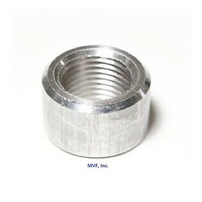 "1"" NPT Threaded Half Coupling Aluminum 6061-T Schedule 40 Pipe Fitting A090641"