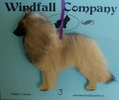 Belgian Tervuren Dog Plush Christmas Canine Ornament # 3 by WC