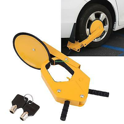 Car Tire Claw ATV RV Boat Truck Trailer Wheel Clamp Lock Anti Theft Parking Boot