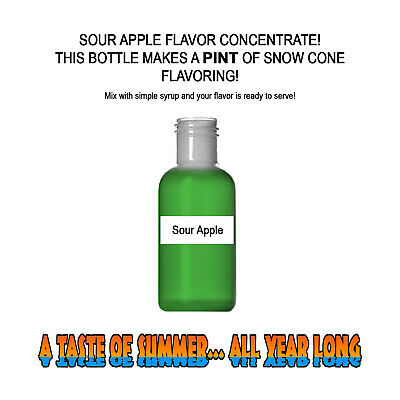 SOUR APPLE SHAVED ICE Flavor BEST CONCENTRATE #1- FOR PINT SIZE