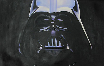 Oil Painting 100% Hand Made Darth Vador Star Wars Jedi Sith Canvas