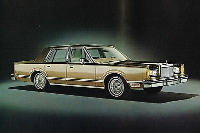1980 LINCOLN CONTINENTAL Brochure / Catalog with Color Chart