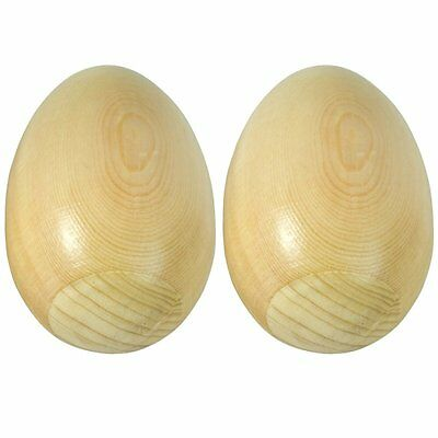 Tiger Music Wooden Natural Egg Shakers