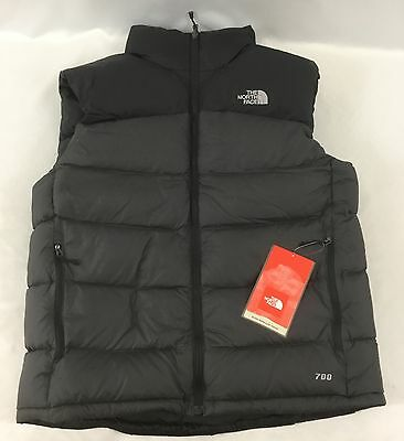 The North Face Men s Nuptse 2 Down Puffer Full Zip Vest Asphalt Gray NWT  Size XL 9ccb6916c