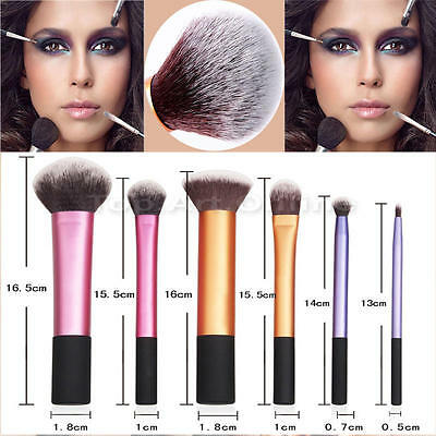 6pcs Real Technique Make up Brushes Core Collection/Travel Essential/Starter Set