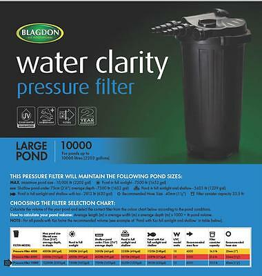 Pond Filter - Blagdon Pressure Filter 10000 with 13 watt UV Clarifier
