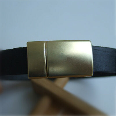 5 Sets Matte Gold Arc Magnetic Clasp For 5mm 10mm Flat Leather Bracelet Jewelry