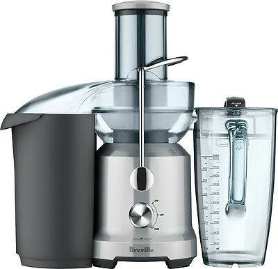 Breville - Juice Fountain® Cold Electric Juicer - Silver