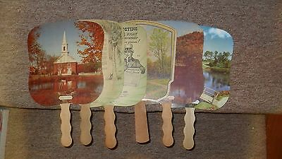 Lot of 6 Vintage Funeral Home Fans....4-digit Phone #'S!!!