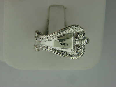 Antique Sterling Silver Spoon Ring