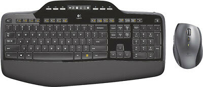 Logitech - Wireless Desktop MK710 Keyboard and Mouse - Black