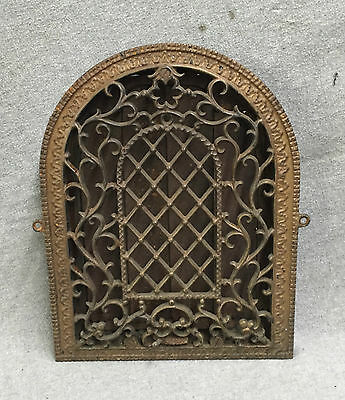 Antique Cast Iron Arch Top Decorative Dome Heat Grate Wall Register 8x12 1569-16