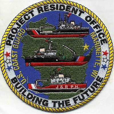 "USCG Coast Guard Patch - Project Resident Office, Marinette (5"" round) (fire)"