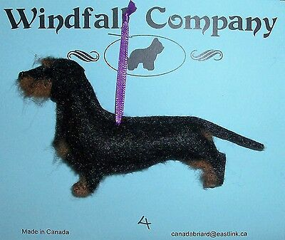 Black and Tan Wire Coat Dachshund Dog Christmas Canine Ornament # 4 by WC
