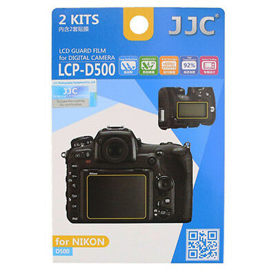 JJC 2x LCD Screen Protector Guard Top & Back for Nikon D500 Digital Camera DSLR