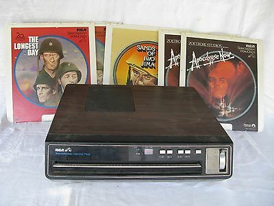 Vintage Rca Sgt-100W Selectavision Video Disc Player With 5 Discs