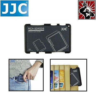 JJC Ultra-thin Pocket Size Memory Card Storage Holder for 2x SD SDHC 4x Micro SD