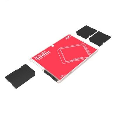 JJC Ultra-thin Pocket Size Memory Card Storage Holder for 4 x SD SDHC cards
