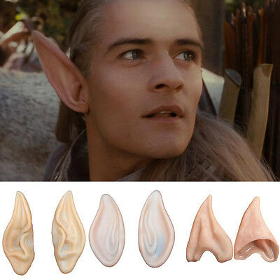 Halloween Party Cosplay Soft Pointed  Elf Fairy Hobbit Vulcan Costume Tips Ears