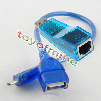 RJ45 to USB Connector +MicroUSB 5Pin Male to USB Female OTG Cable for Mobile Pad