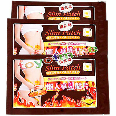10pcs/pack Slim Patches Diet Slimming Fast Weight Loss Burn Fat Belly Feet Detox