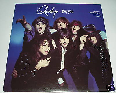 """Quireboys - Hey you   UK 12"""" & POSTER"""