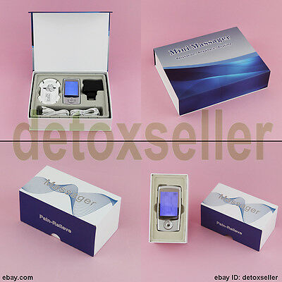 New 16 Modes TENS Mini Electric Digital Pulse Massager Therapy Muscle Stimulator