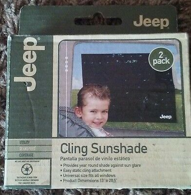 Jeep Cling Sunshade, Pack of 2, Car Window Shade, Child Sun Protector, Window