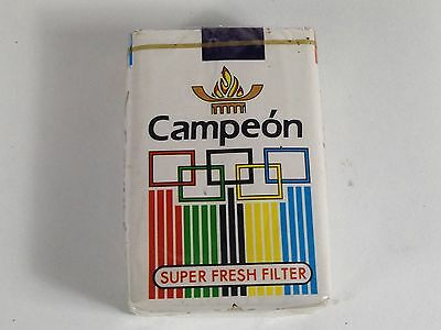 Paquet Cigarette Campeon Jo 1974 Tobacco Plein Ancien Pack Tabac