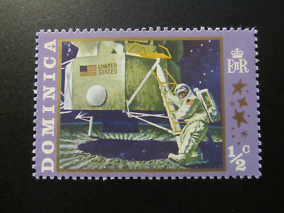 1970 - Dominica - First Man On The Moon - Scott 291 A34 1/2C