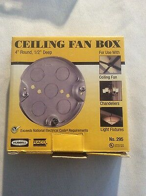 """RACO Ceiling Box Cover .. VQ-001 * HUBBELL 4/"""" Round Raised 5//8/"""" P//N: 727 .."""