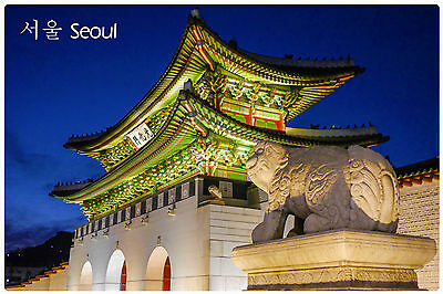 Refrigerator fridge magnet SOUTH KOREA SEOUL photo vinyl souvenir FREE POSTAGE