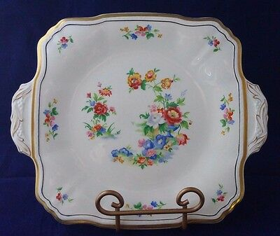 "Alfred Meakin Marigold Astoria Shape Gold Trim 9"" Serving Handled Plate England"