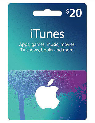 $20 iTunes Australia Gift Card for Music, Movies, Apps, Books  MELBOURNE DELIVER
