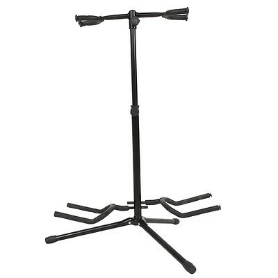 Professional Dual Double Acoustic Electric Guitar Bass Stand Music Accessories