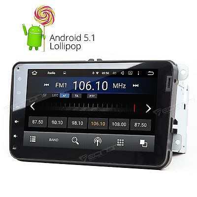 "GA6153W Android 5.1 8"" Car Stereo GPS Sat Nav FM Radio Touch E for VW Skoda Seat"