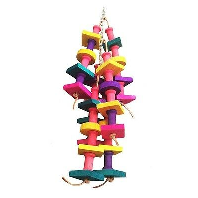 Bird Parrot Toy Natural Wood Snap Toy