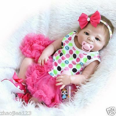 "23"" Lifelike Reborn Baby Doll Silicone Christmas gift Muñecas Reborn Baby New"