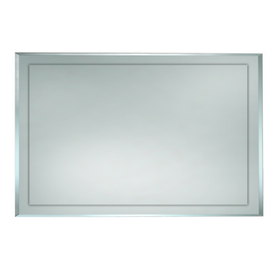 900 x 750mm BATHROOM MIRROR BEVELLED EDGE HUNG VERTICAL or HORIZONTAL (F002-900)