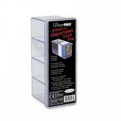 Ultra PRO 4-Compartment Clear Card Box - 81163