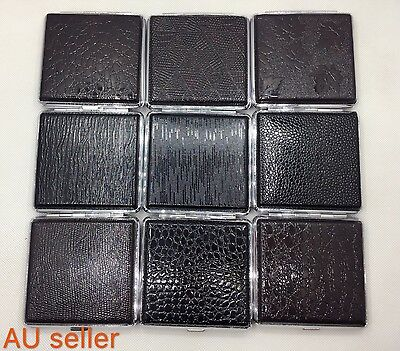 Stainless Steel PU Leather Cigarette Box Case Hold For 20 Cigarettes AU stock