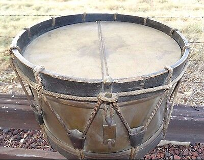 15022 antique 19th century brass o mahillon snare military drum orig heads cad. Black Bedroom Furniture Sets. Home Design Ideas
